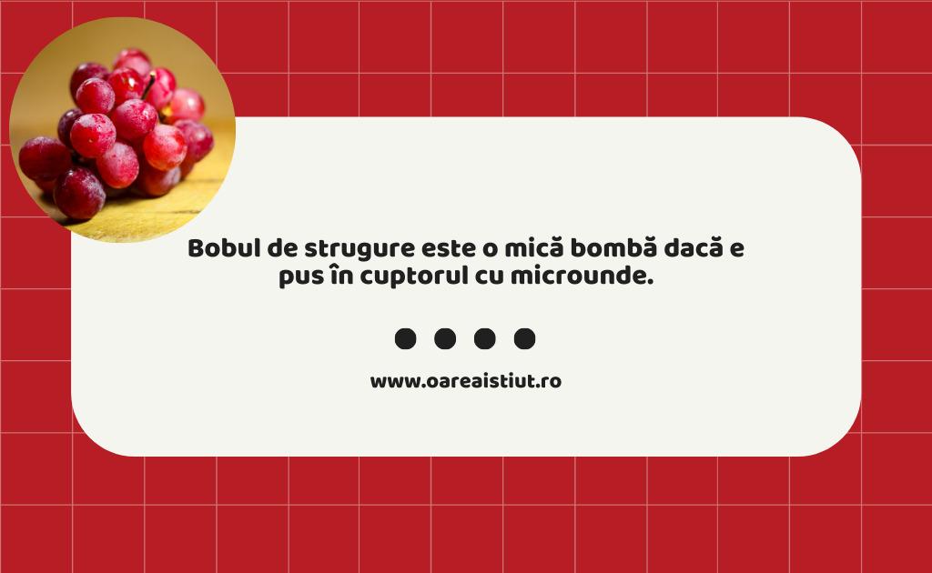 Bobul de strugure este o mică bombă dacă e pus în cuptorul cu microunde